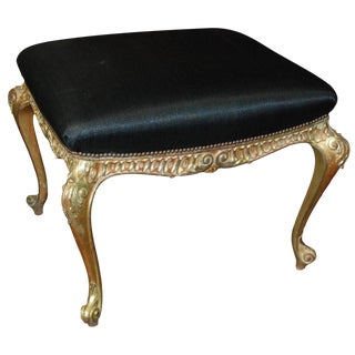 Italian Gilt and Paint Footstool