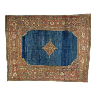 Leon Banilivi Antique Royal Blue Persian Ferahan Carpet - 8' x 10'