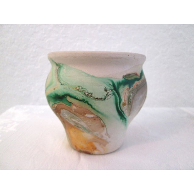 Nemadji Swirl Pottery Vessels - Pair - Image 7 of 11