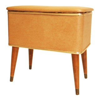 Mid-Century Modern Beige Sewing Box