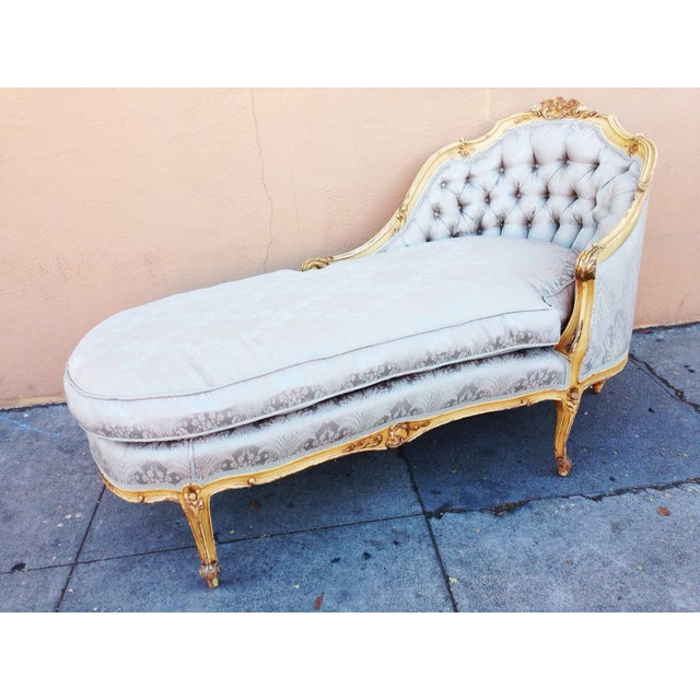Antique French Chaise Lounge or Fainting Couch - Image 2 of 10