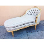 Image of Antique French Chaise Lounge or Fainting Couch