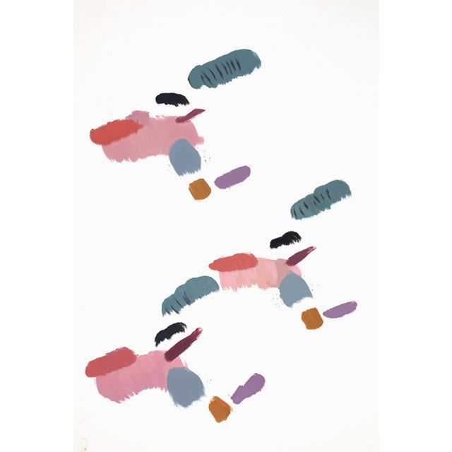 Natalia Roman 'Freqüency' Oil Painting on Paper - Image 1 of 2