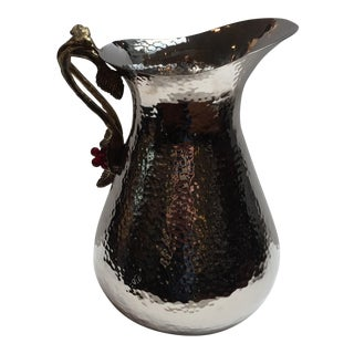 Hammered Nickel Water Pitcher