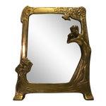 Image of Antique Art Nouveau Vanity Mirror