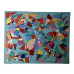 Image of Vintage Geometric Abstract Painting #42