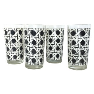 Cane Mid-Century Highball Glasses - Set of 4