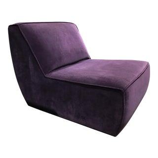 G. Romano Purple Velvet Cove Lounge Chair
