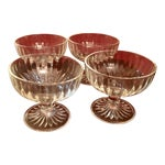 Mid-Century Ribbed Champagne Coupes - Set of 4