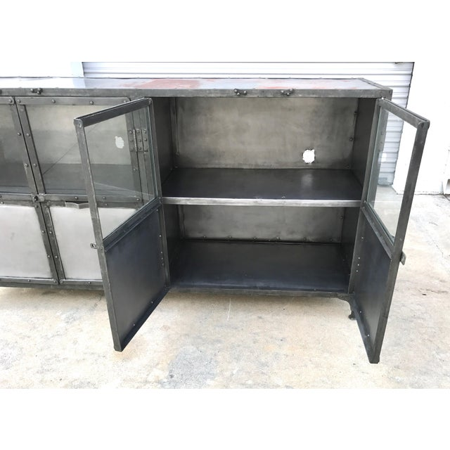 Industrial Antiqued Metal Cabinet - Image 9 of 10