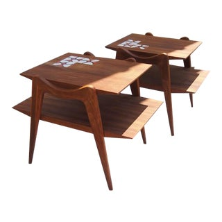 Danish Modern Teak Side Tables- A Pair