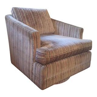 Edward Wormley Style Swivel Rocker Lounge Chair