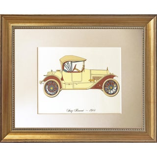 Vintage Lithograph of a 1914 Stutz Bearcat Roadster