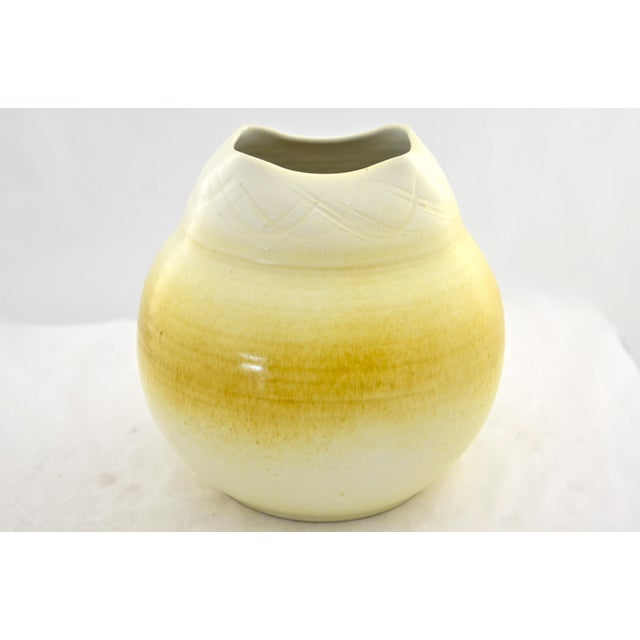 Image of Yellow Ombre Studio Pottery Urn