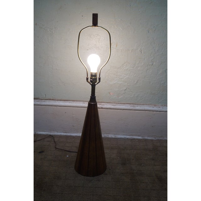 Image of Brandt Ranch Oak Cone Shaped Table Lamp
