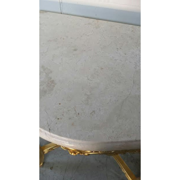 French Rococo XV Marble Top Console Table - Image 4 of 9