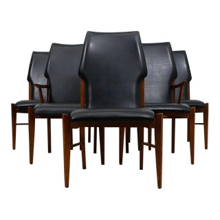 The Draper's Walnut 'Mad Med' Mid-Century Modern Dining Chairs - Set of 6