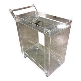 Mid Century Modern Lucite Bar Cart