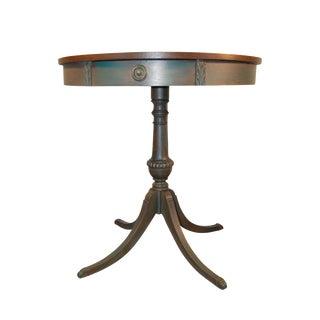 Vintage Painted Drum Table