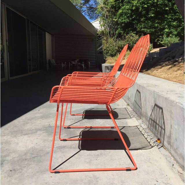 Orange Farmhouse Patio Lounge Chairs A Pair Chairish