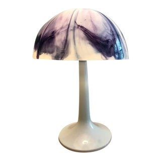 Mod Purple & White Mushroom Table Lamp