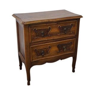 Antique Walnut 2 Drawer Nightstand