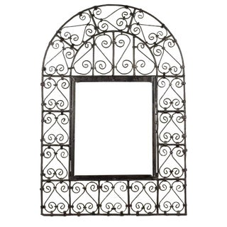 Open Wrought Iron Window Grill
