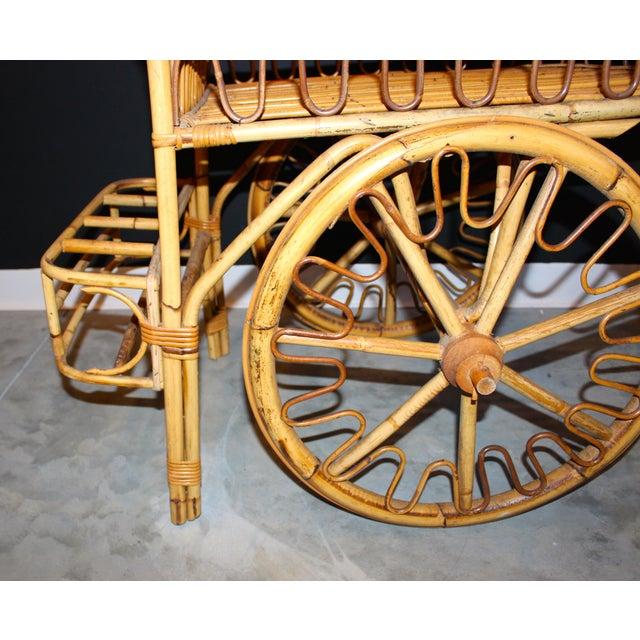 Rattan Bar Cart - Image 9 of 10