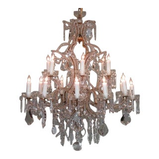 19th Century Italian Piedmont Orientalism Crystal and Gilt Tole Chandelier