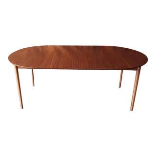 Mid-Century Walnut Round Dining Table