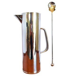 Mid-Century Mexican Sterling Cocktail Pitcher