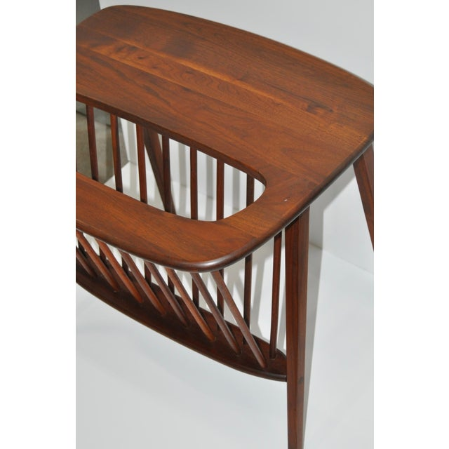 Arthur Umanoff Walnut Side Table & Magazine Rack - Image 4 of 4