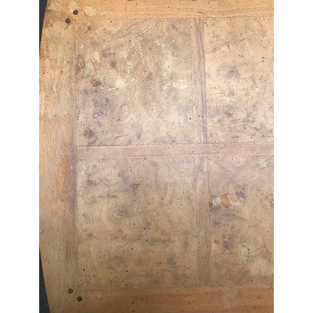 Mastercraft Desk Burled Wood - Image 9 of 11