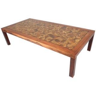Mid-Century Modern Tile-Top Cocktail Table