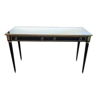 Maison Jansen Style Mirrored Top Ebonized Console Table