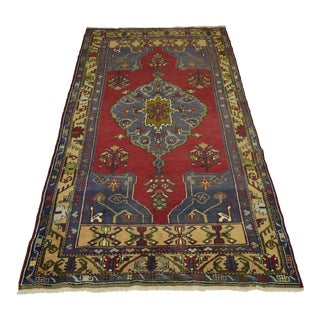 Antique Turkish Handmade Oushak Rug - 4′9″ × 8′9″