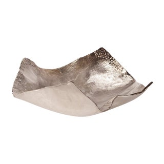 Champagne Silver Hammered Bowl