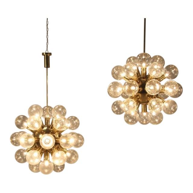 Several Robert Haussmann Brass Sputnik Pendants Holding Twenty Eight Bulbs - Image 1 of 10