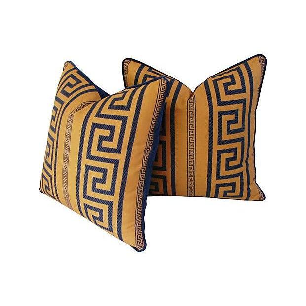 Designer Pierre Frey Greek Key Pillows - A Pair - Image 10 of 11