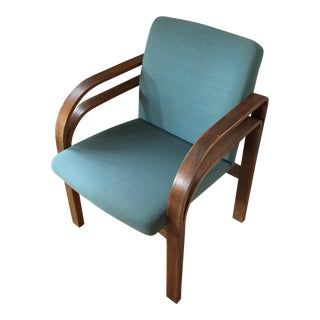 Art Deco Style Blue Bentwood Chair