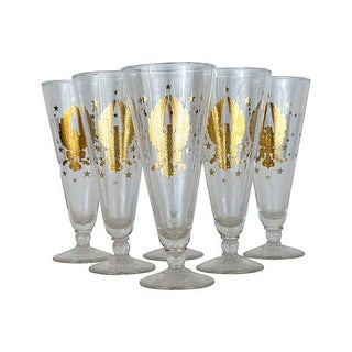 "Gold Eagle ""Gay Fad Studio"" Pilsners - Set of 6"