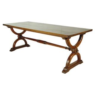 19th-C. Trestle Table