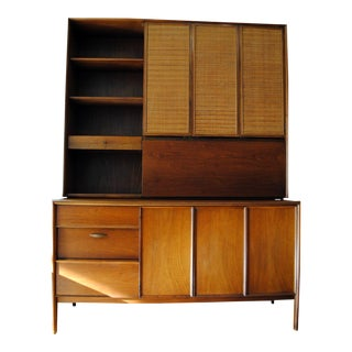 Mid-Century Modern Drexel Credenza W/Hutch and Bar