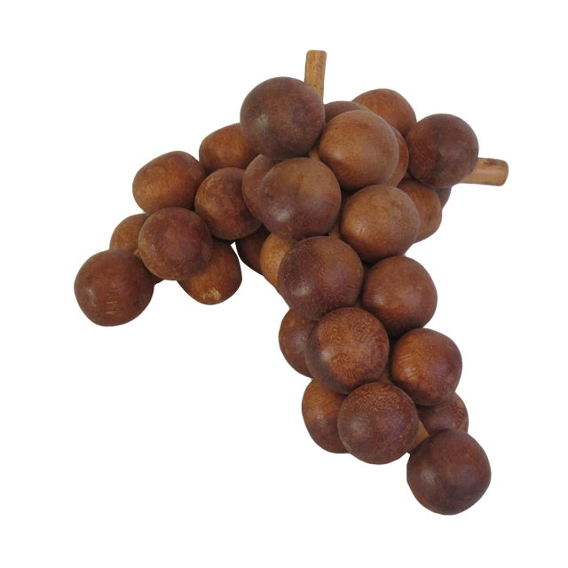 Wooden Grapes - Pair - Image 1 of 4