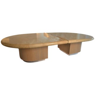 Steven Chase Clear Coat, Lacquered Goatskin Dining or Conference Table