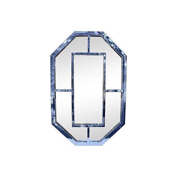 Milo Baughman Octagonal Chrome Mirror - Image 1 of 3