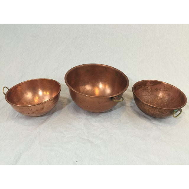 Image of Vintage Copper Baking Bowls - Set of 3