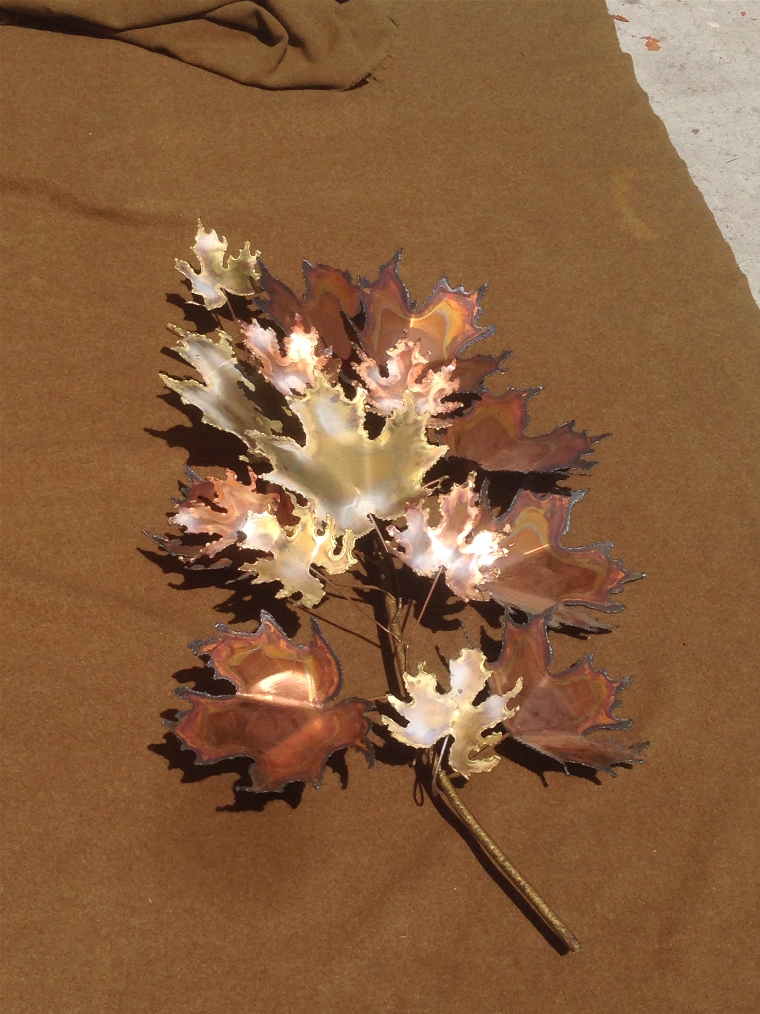 curtis jere maple leaf metal wall sculpture image 5 of 7