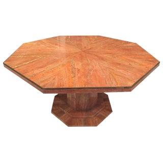 Italian Octagonal Marble Dining Table
