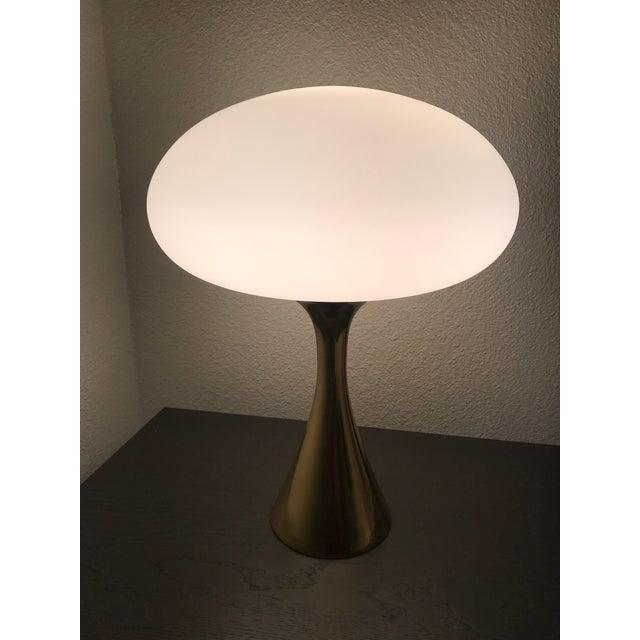 Mid-Century Laurel Brass Mushroom Lamp - Image 2 of 6